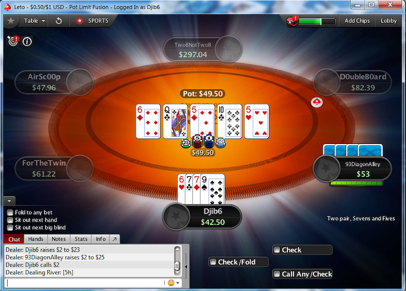 Fusion Poker no river