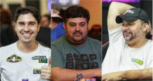 Guilherme Chenaud, Alen Filipi e Sanderson Lelis