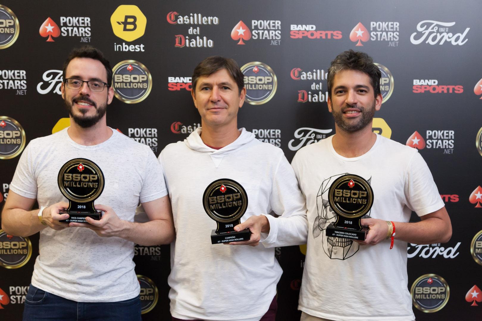 Cássio Kiles, Francisco Neto e Ricardo Lima - Super High Rollers - BSOP Millions