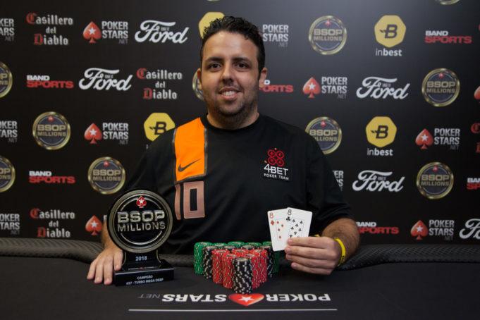 Guilherme Franco campeão do Turbo Mega Deep do BSOP Millions