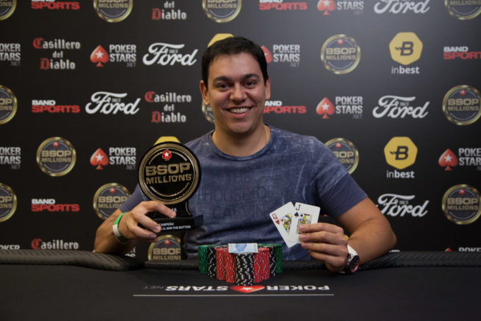 Rafael Teles campeão do Turbo Win The Button do BSOP Millions