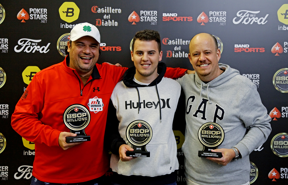 """José Heraldo Vaughan, Bruno Gazotto e José Carlos """"Belém"""" - PLO Dealers Choice - BSOP Millions"""