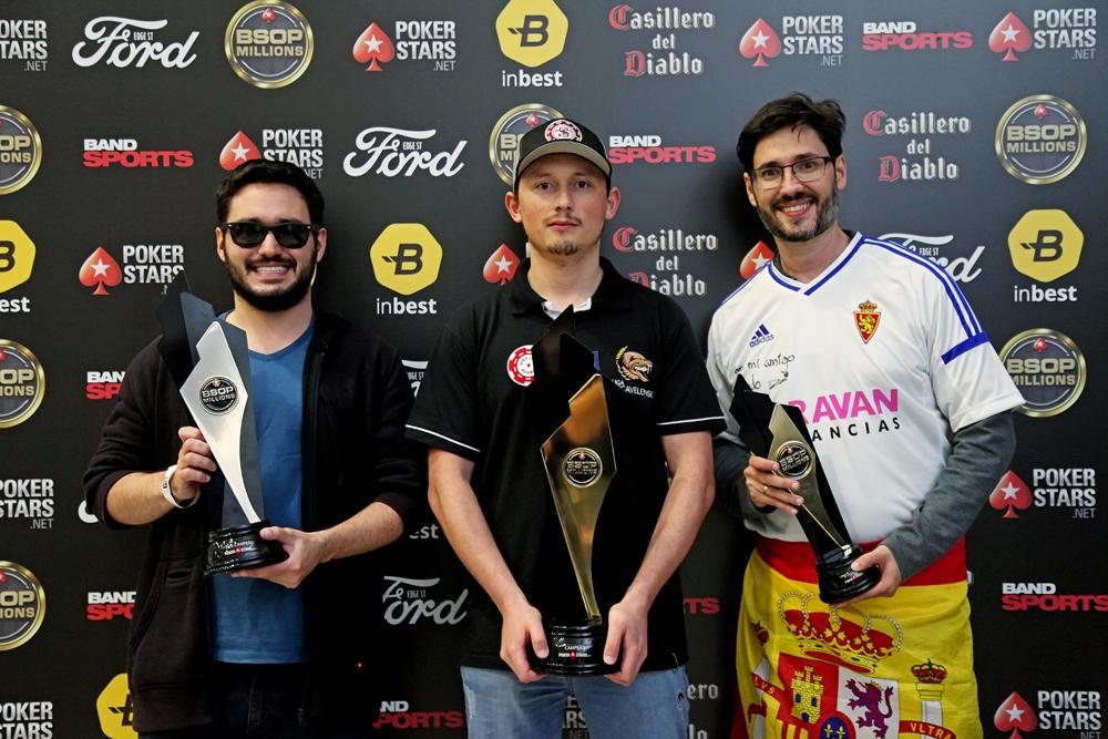 Erik Marasco, Leocir Carneiro e Ricardo Mostacero - Main Event BSOP Millions