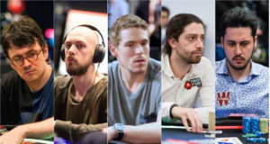 Isaac Haxton, Stephen Chidwick, Alex Foxen, Igor Kurganov e Adrian Mateos