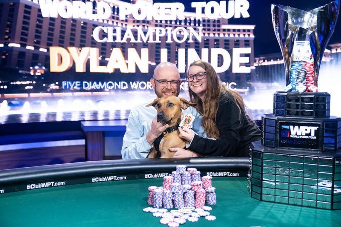 Dylan Linde, Alyssa e River - Campeão WPT Five Diamond