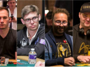 Justin Bonomo, Fedor Holz, Daniel Negreanu e Phil Hellmuth