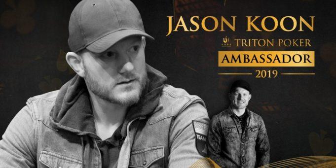 Jason Koon é o primeiro embaixador da Triton Super High Roller Series
