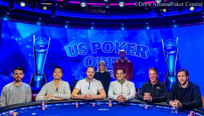 Mesa Final do Evento #3 do US Poker Open