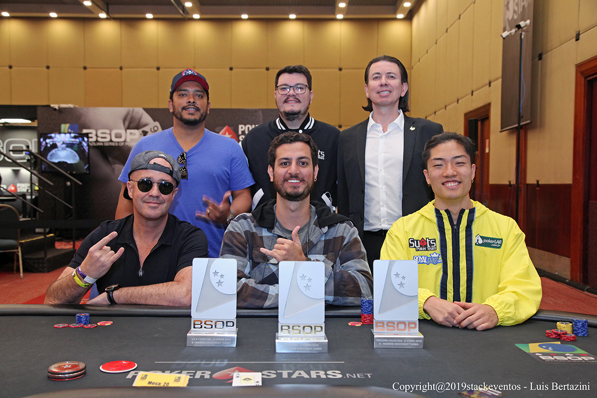 Mesa final do 6-handed Turbo Knockout do BSOP São Paulo
