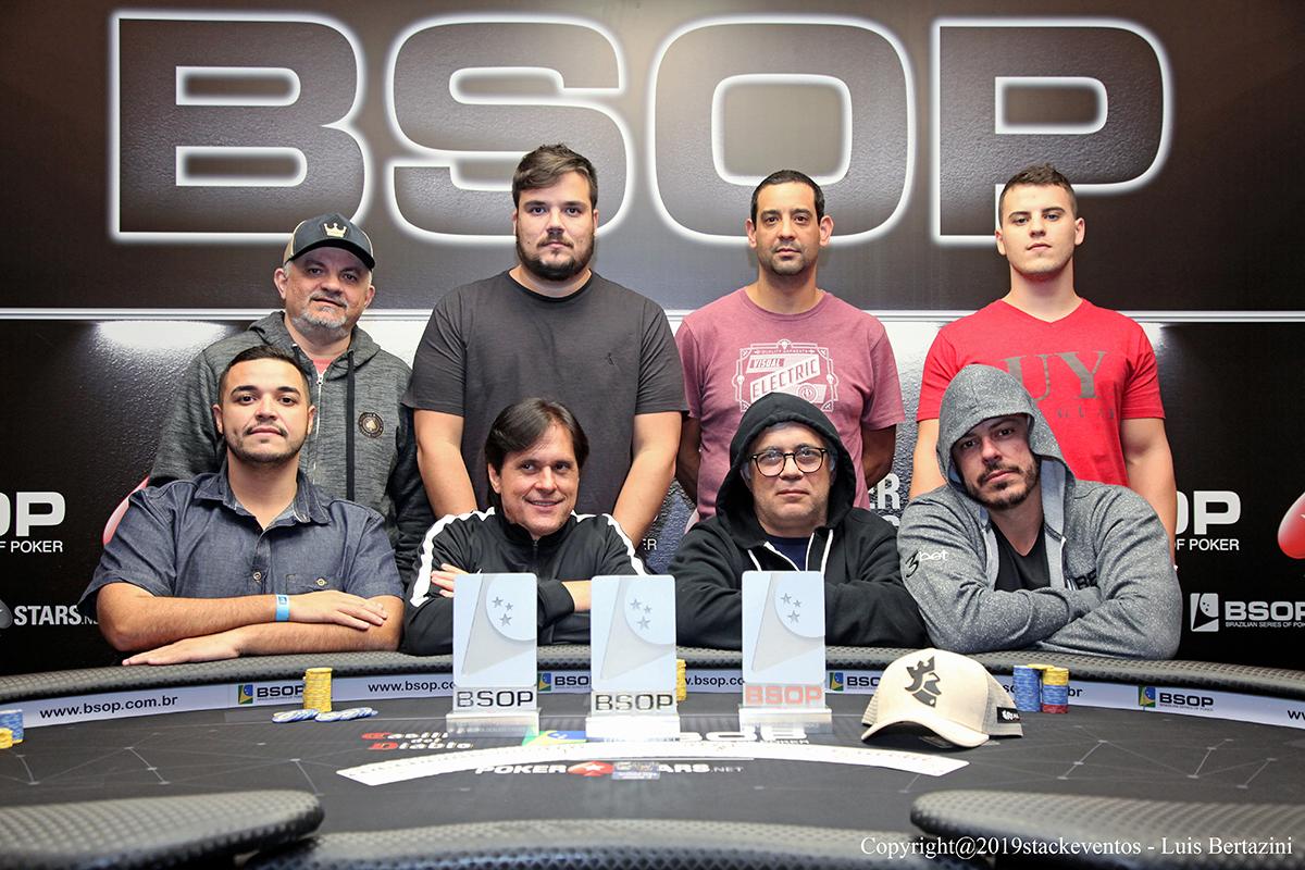 Mesa final do  PL Omaha Dealers Choice do BSOP São Paulo