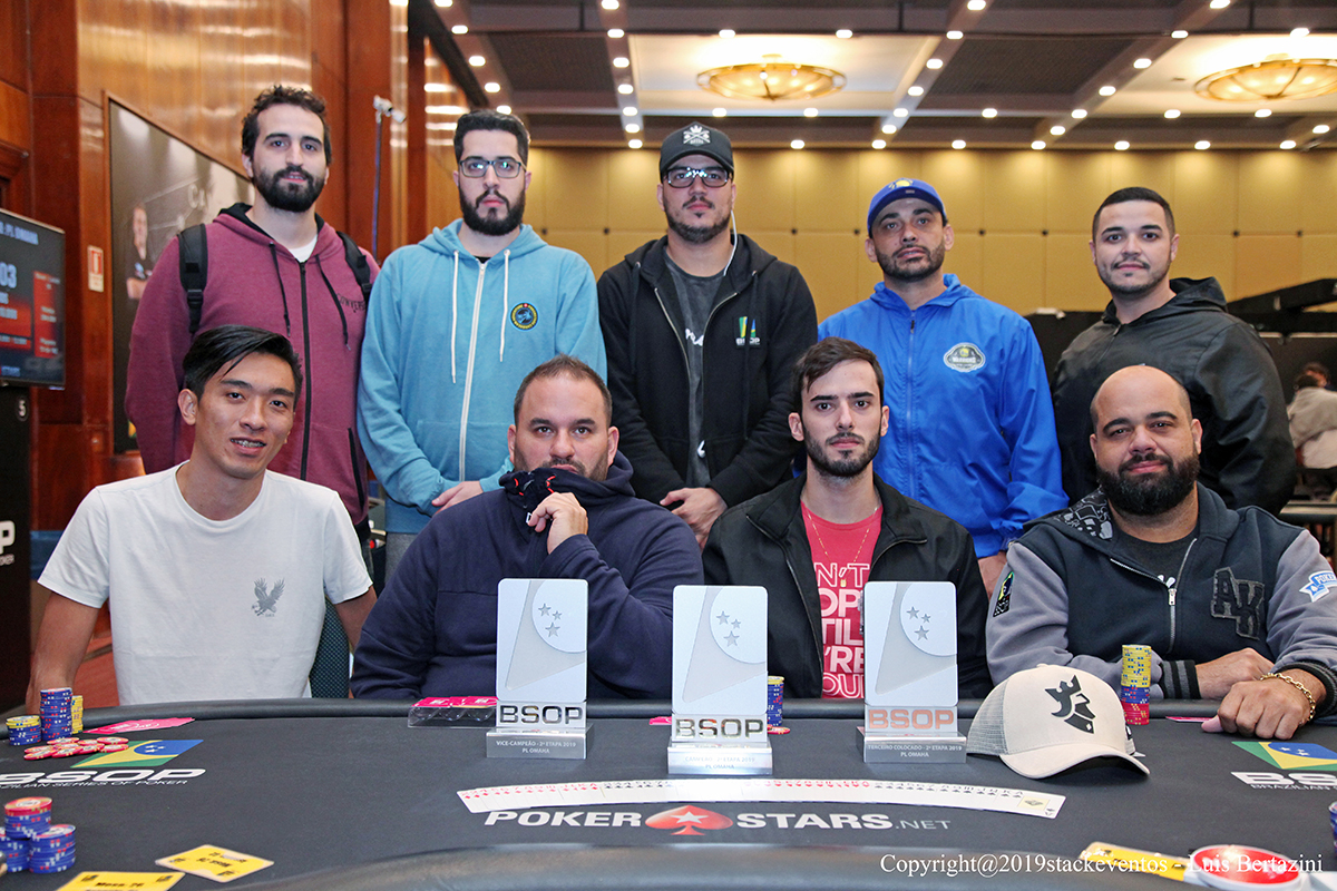 Mesa Final do Pot-Limit Omaha do BSOP São Paulo