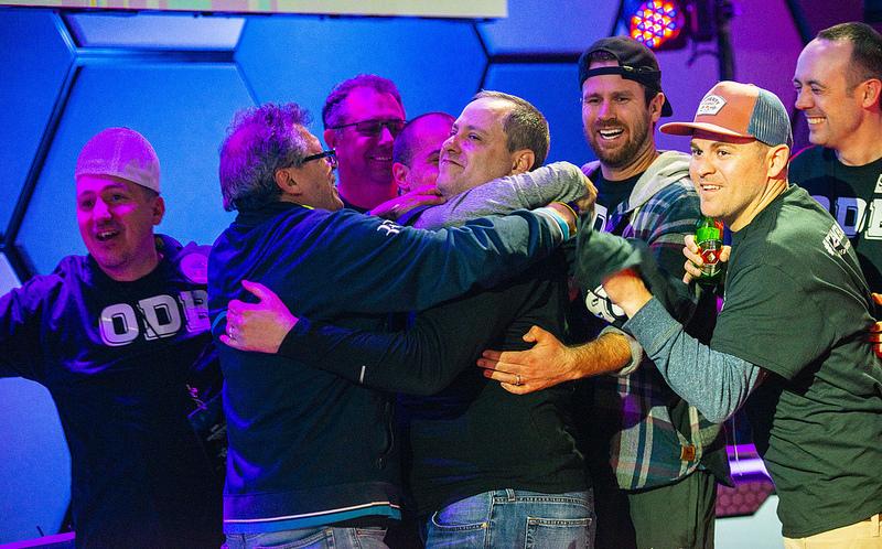 David Baker comemorando no WPT L.A. Poker Classic