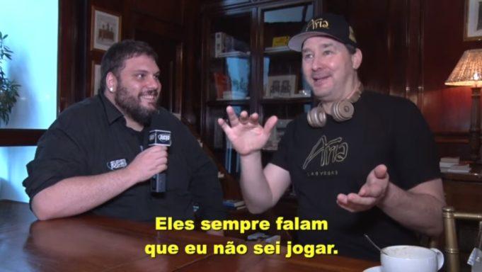 Vitão e Phil Hellmuth