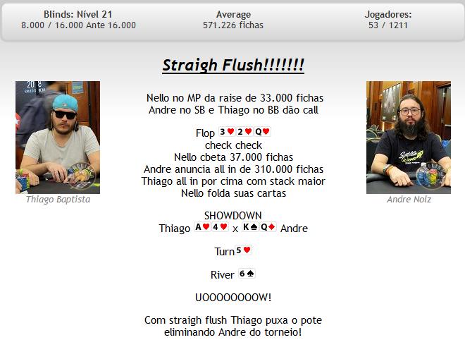 Straight flush - BSOP São Paulo