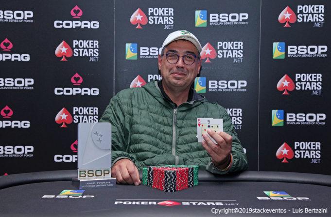 José Manso - Campeão Last Chance Deepstack - BSOP Salvador
