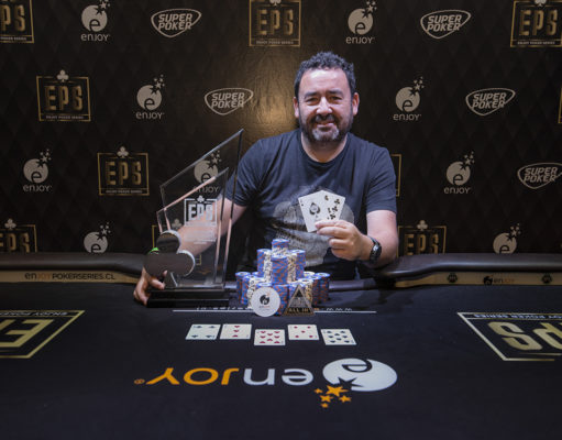 Leonel Otazo campeão do Main Event do Enjoy Poker Series Coquimbo