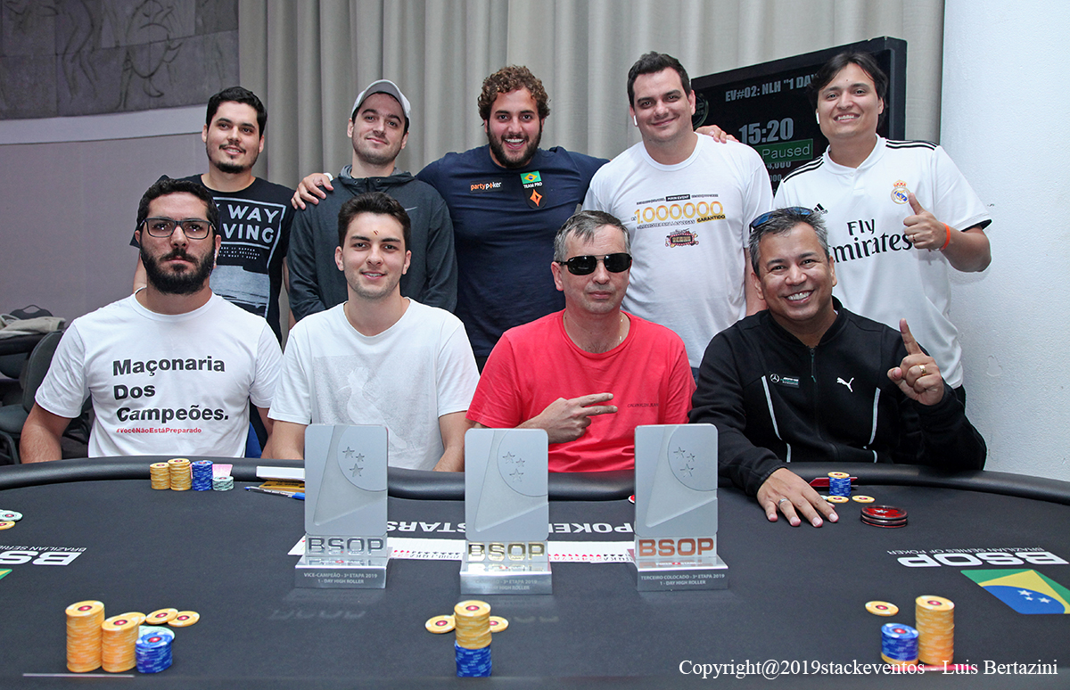 Mesa Final 1-Day High Roller - BSOP Salvador