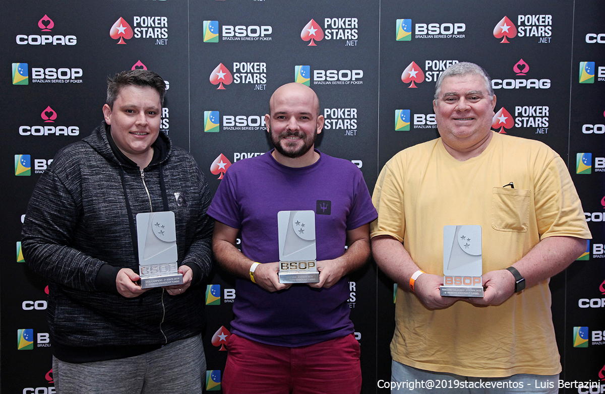 Leandro Prinz, Gustavo Moura e José Geleilate - 6-Handed Knockout - BSOP Salvador