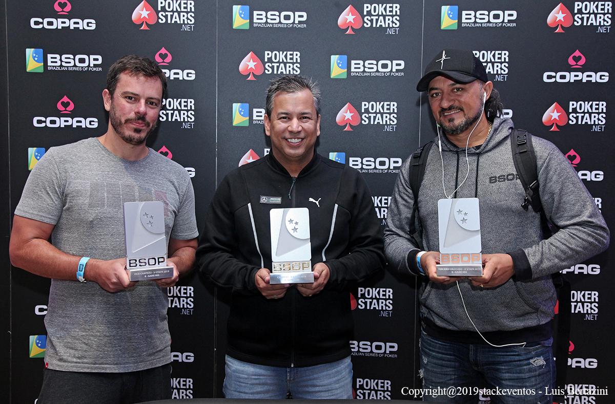 Paulo Gini, Rogério Siqueira e Charles Lima - 8-Game BSOP Salvador