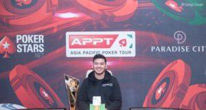 Michael Soyza campeão do Super High Roller do APPT Coreia do Sul