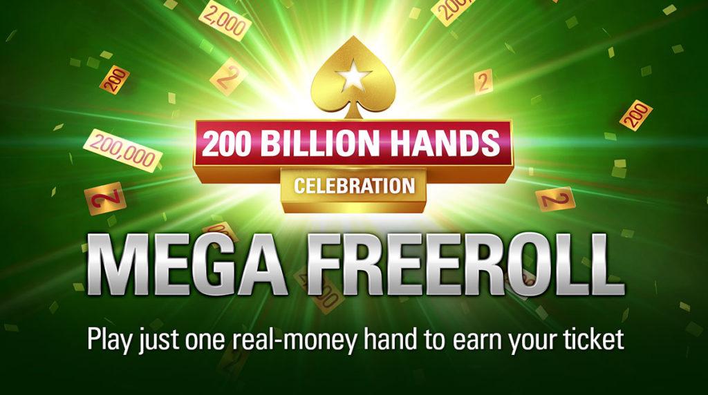 Mega Freeroll - 200 Bilhões de Mãos - PokerStars