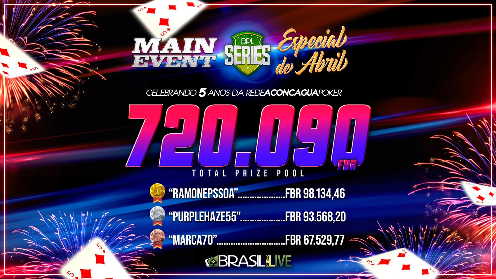 Especial de Abril do Brasil Poker Live distribuiu mais de R$ 700 mil em prêmios