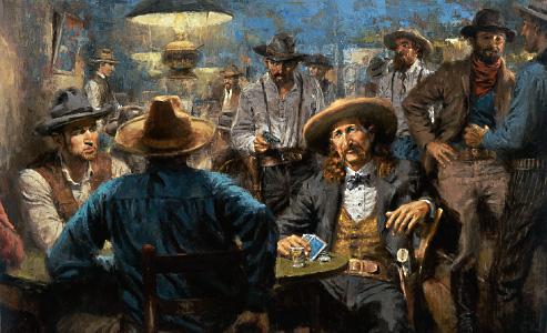 Ilustração de Wild Bill Hickock - Autor: Andy Thomas