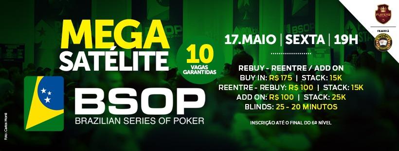 Mega Satélite Live para o BSOP Rio Quente