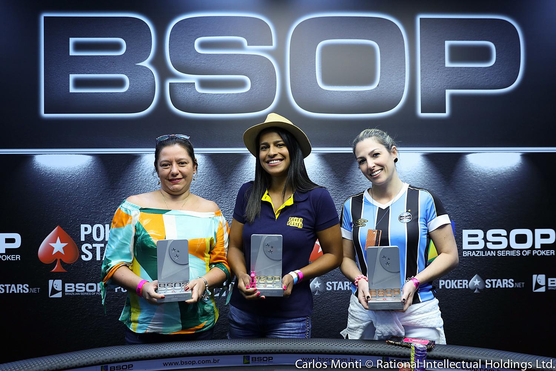 Finalistas do Ladies Event do BSOP Rio Quente