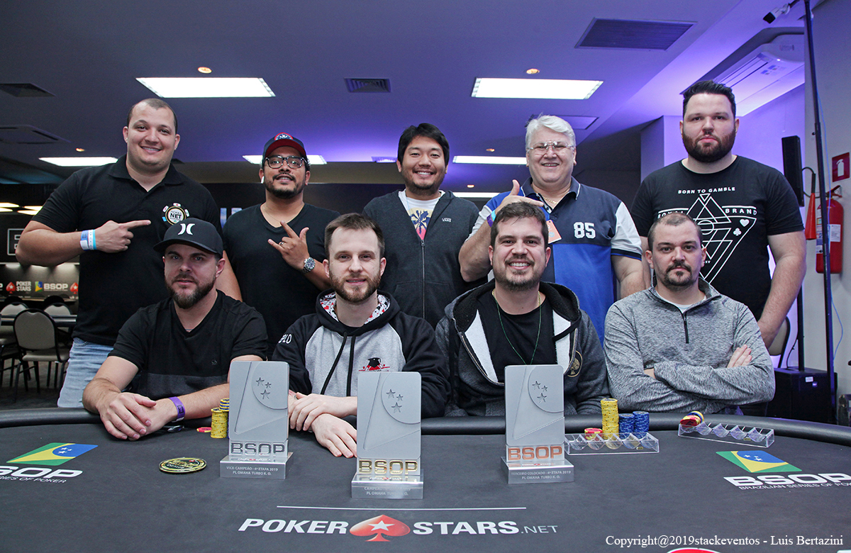 Mesa final do Pot-Limit Omaha Turbo Knockout do BSOP Rio Quente