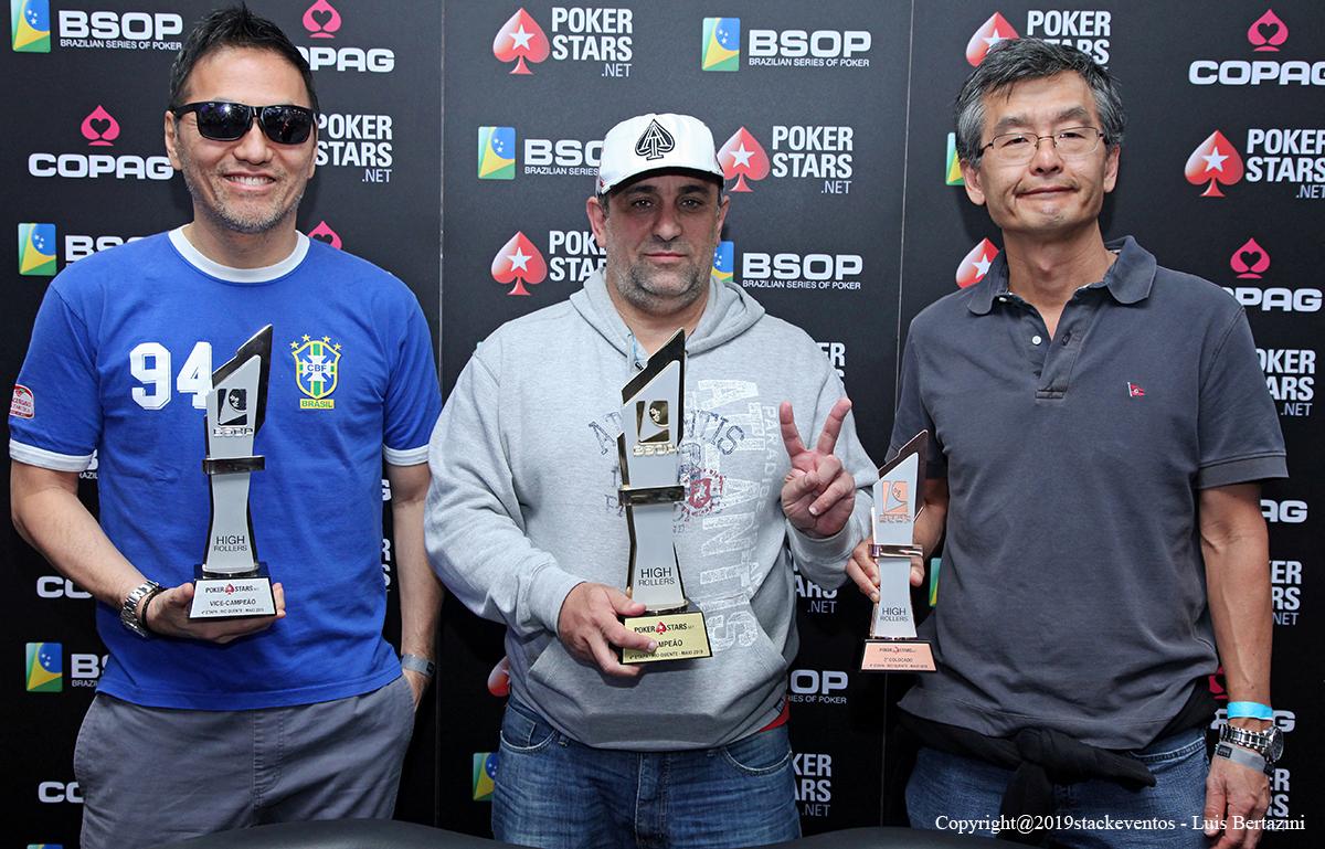 Finalistas do High Roller do BSOP Rio Quente