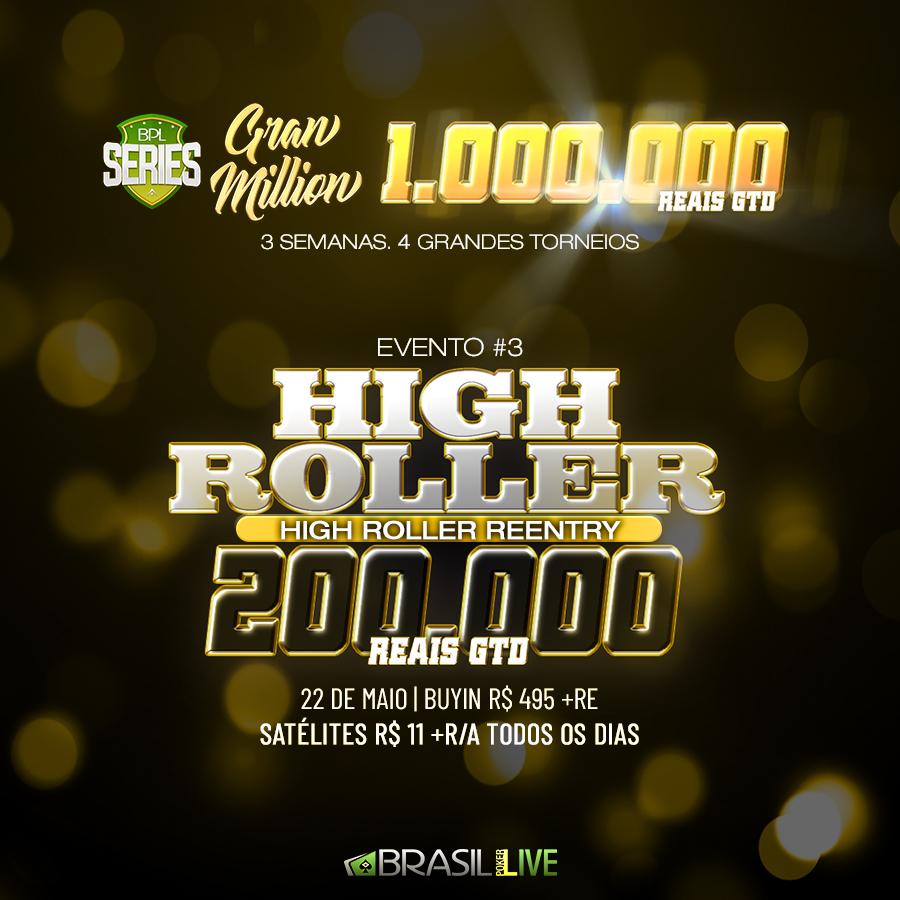 High Roller da BPL Series Gran Million do Brasil Poker Live
