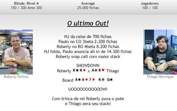 Roberly Felício acerta um out