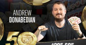 Andrew Donabedian campeão do Evento #25 da WSOP