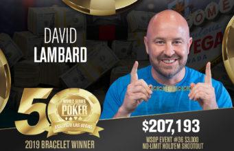 David Lambard campeão do Evento #36 da WSOP