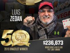 Luis Zedan campeão do Evento #30 da WSOP