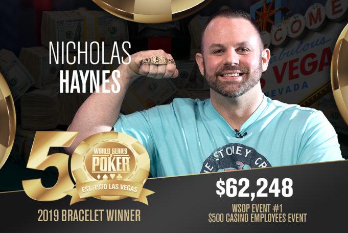 Nicholas Haynes é campeão do Evento #1 da WSOP