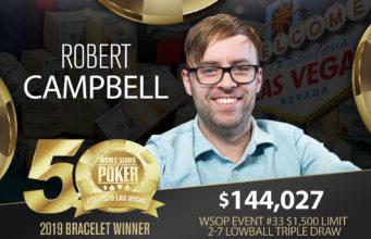 Robert Campbell campeão do Evento #33 da WSOP