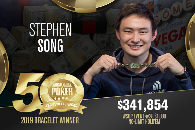 Stephen Song campeão do Evento #28 da WSOP