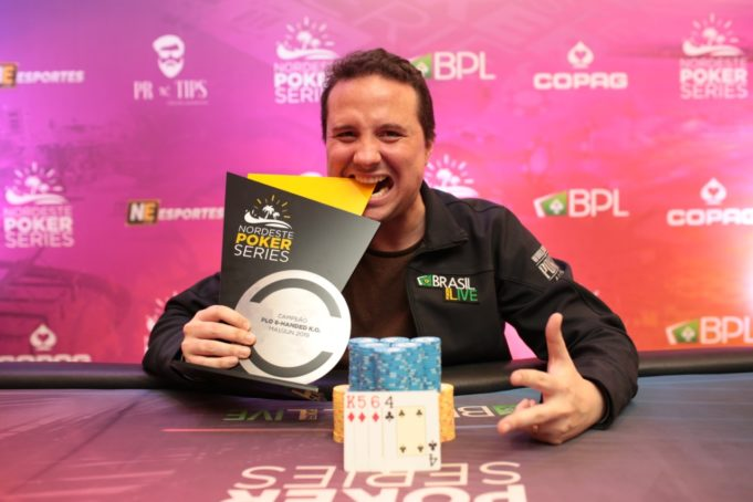 Bruno Foster campeão do Pot-Limit Omaha 6-handed Knockout do NPS Fortaleza