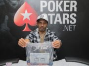 Cláudio Batista chip leader do Dia 1A do Main Event do MasterMinds 12