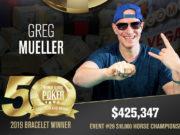 Greg Mueller - Campeão Evento #33 - WSOP 2019
