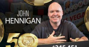 John Hennigan - Campeão Evento #41 - WSOP 2019