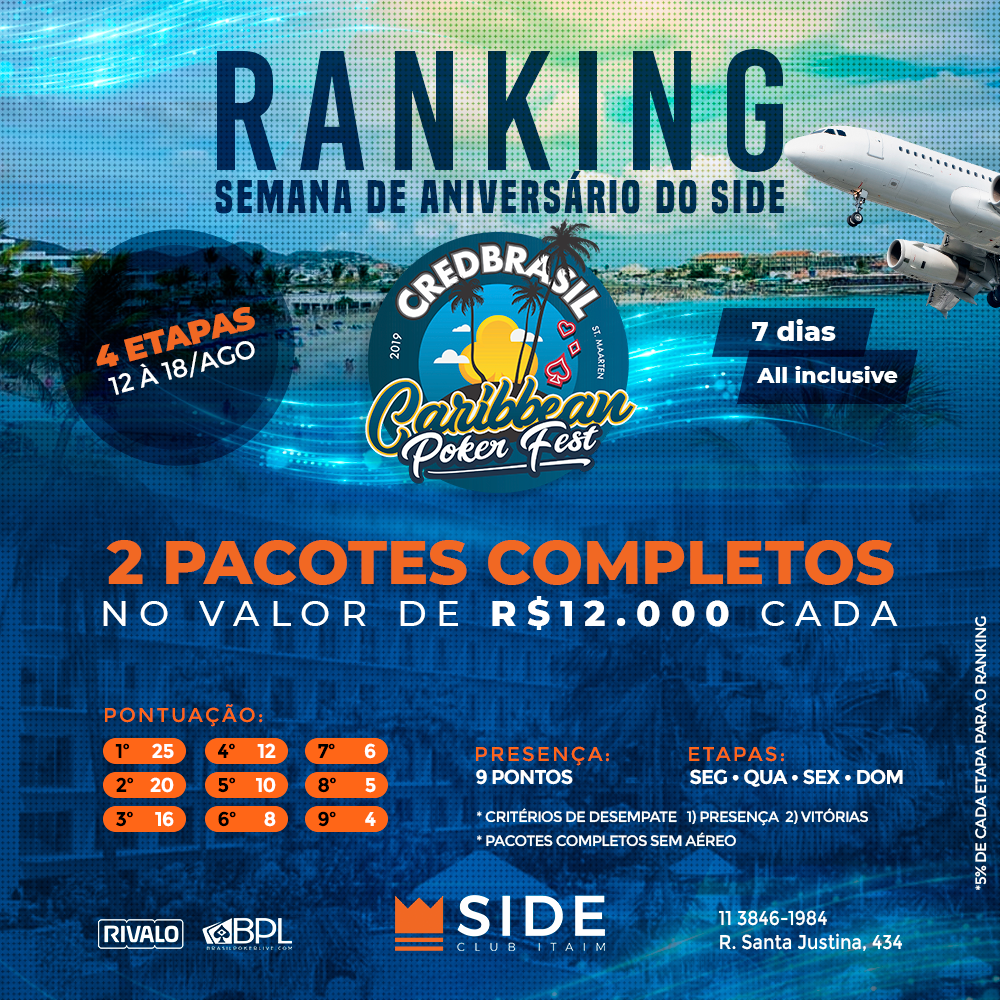 Ranking especial de aniversário do Side Club Itaim