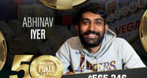Abhinav Iyer campeão do Evento #84 da WSOP