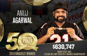 Anuj Agarwal vence o Evento #86 da WSOP