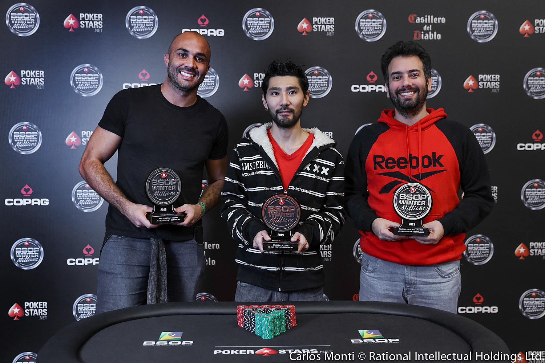 Francisco Palencia, Marcelo Ogusuku e André Sá - Start-Up - BSOP Winter Millions