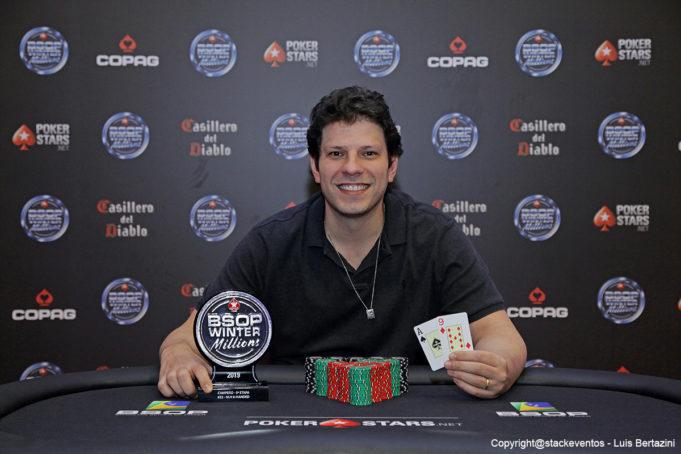 Caio Mansur campeão do 6-Handed do BSOP Winter Millions