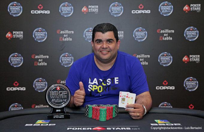 Luiz Carvalho é campeão Mesa Final do Turbo Knockout do BSOP Winter Millions
