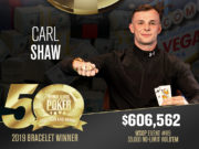 Carl Shaw campeão do Evento #89 da WSOP